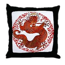 Dragon Twist Throw Pillow