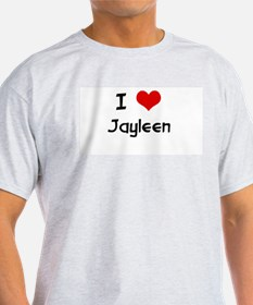 I LOVE JAYLEEN Ash Grey T-Shirt