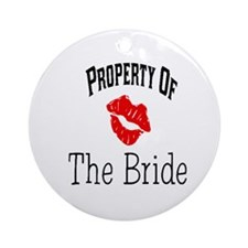 Property of the Bride(Red Lips) Ornament (Round)