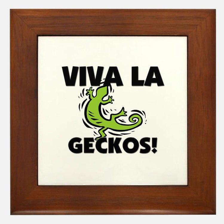 Viva La Geckos Framed Tile