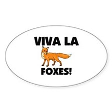Viva La Foxes Oval Decal