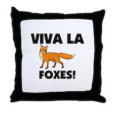Viva La Foxes Throw Pillow