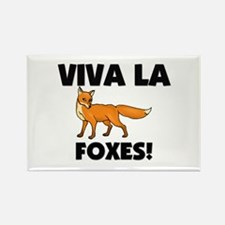 Viva La Foxes Rectangle Magnet