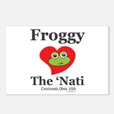 Froggy Hearts The Nati Postcards (Package of 8)