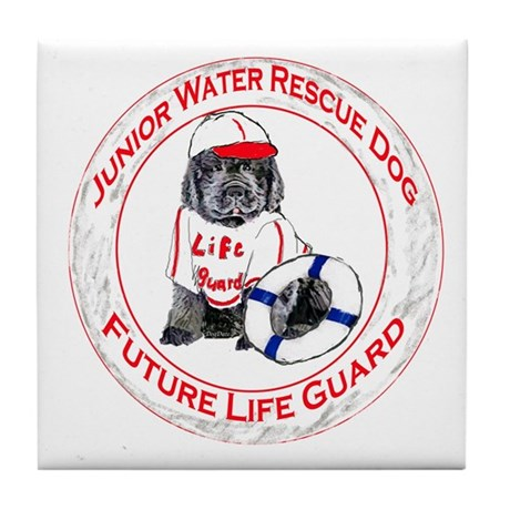 life guard newfy Tile Coaster