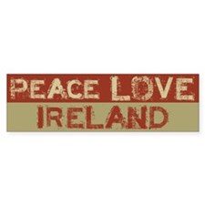 Peace Love Ireland Bumper Bumper Sticker