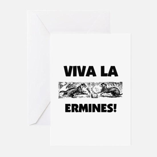 Viva La Ermines Greeting Cards (Pk of 10)