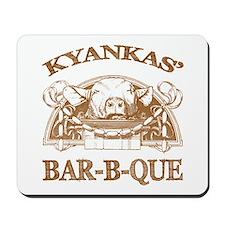 Kyankas' Family Name Vintage Barbeque Mousepad