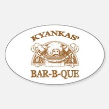 Kyankas' Family Name Vintage Barbeque Decal