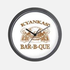 Kyankas' Family Name Vintage Barbeque Wall Clock