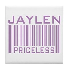 Jaylen Custom Priceless Barcode Tile Coaster