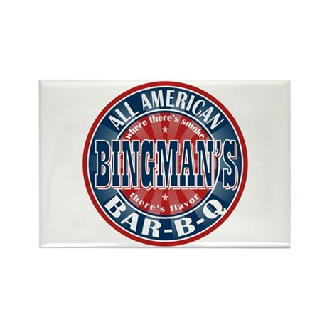 Bingman's All American BBQ Rectangle Magnet