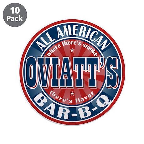 "Oviatt's All American BBQ 3.5"" Button (10 pack)"