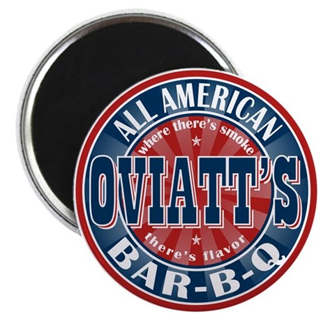 "Oviatt's All American BBQ 2.25"" Magnet (100 pack)"