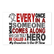 HERO Comes Along 1 Grandson BRAIN CANCER Postcards