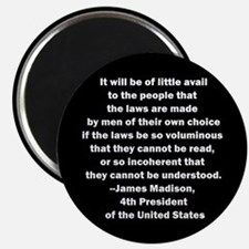Quote of James Madison Magnet