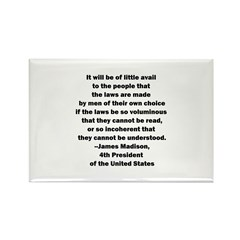 Quote of James Madison Rectangle Magnet (100 pack)