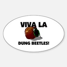 Viva La Dung Beetles Oval Decal