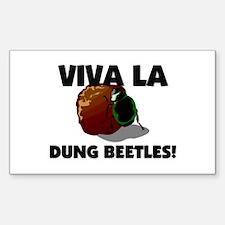 Viva La Dung Beetles Rectangle Decal