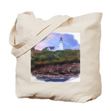 Lighthouse Cape Elizabeth, Maine Tote Bag