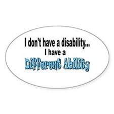 Different Ability Oval Decal