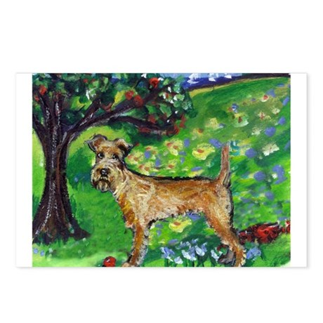 Irish Terrier summer whimsica Postcards (Package o