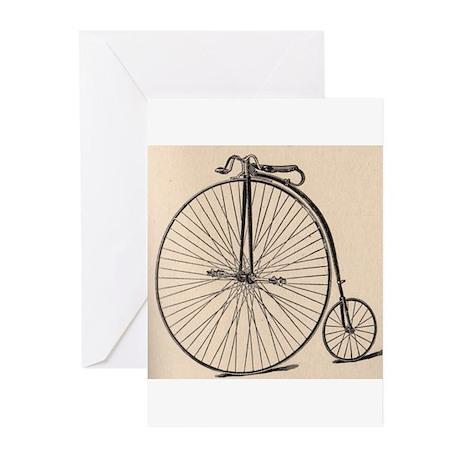 """""""Vintage Bicycle"""" Greeting Cards (Pk of 10)"""