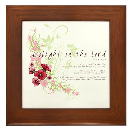 Delight in the Lord Framed Tile