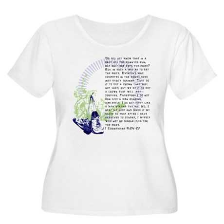 Run for the Prize Women's Plus Size Scoop Neck T-S