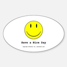 Smiley Oval Decal