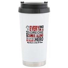 HERO Comes Along 1 Uncle BRAIN CANCER Travel Mug