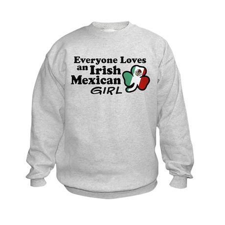Irish Mexican Girl Kids Sweatshirt