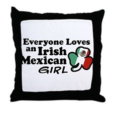 Irish Mexican Girl Throw Pillow