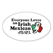 Irish Mexican Girl Oval Decal