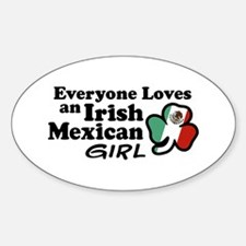 Irish Mexican Girl Oval Decal