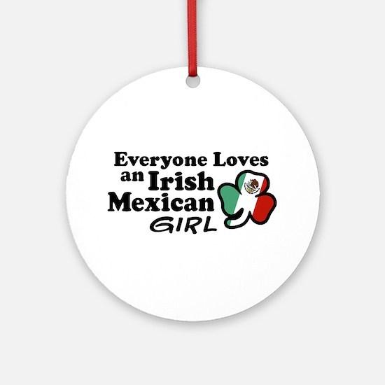 Irish Mexican Girl Ornament (Round)