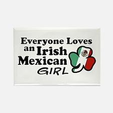 Irish Mexican Girl Rectangle Magnet