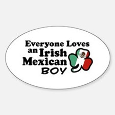Irish Mexican Boy Oval Decal