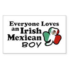 Irish Mexican Boy Rectangle Decal