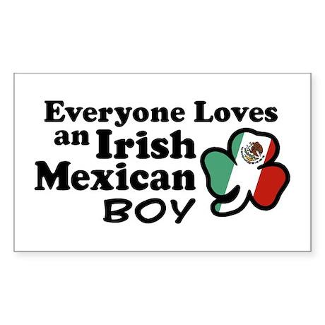 Irish Mexican Boy Rectangle Sticker 10 pk)