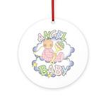 Angel Baby Ornament (Round)
