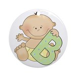 B is for Baby Ornament (Round)