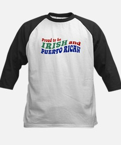 Proud Irish Puerto Rican Kids Baseball Jersey