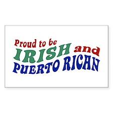 Proud Irish Puerto Rican Rectangle Decal