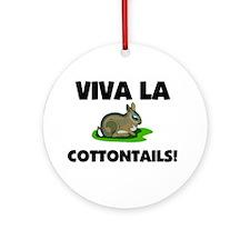 Viva La Cottontails Ornament (Round)