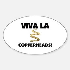 Viva La Copperheads Oval Decal