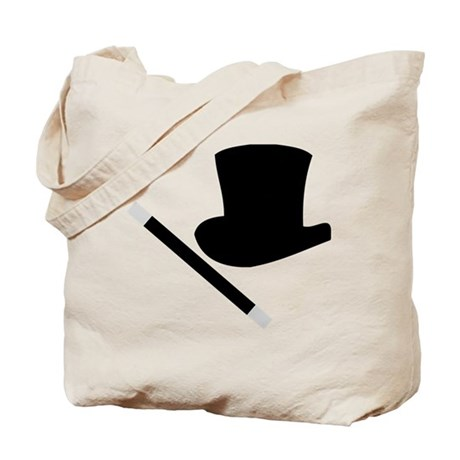 Magic Top Hat and Wand Tote Bag