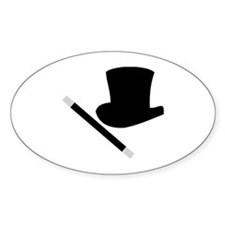 Magic Top Hat and Wand Oval Decal