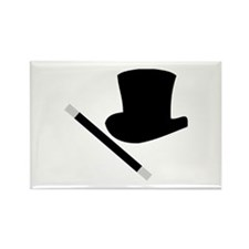 Magic Top Hat and Wand Rectangle Magnet