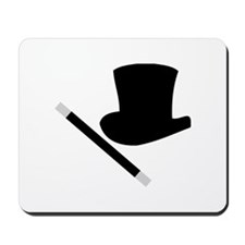 Magic Top Hat and Wand Mousepad